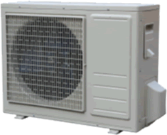 Picture of pure solar air conditioner DC4812VRF 12,000 BTU unit